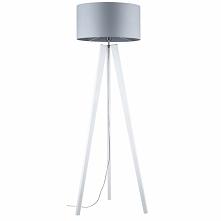 Elegancka i stylowa drewniana lampa stojąca Lotta Britop Lighting biała z sza...