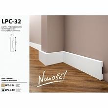 Listwa podłogowa LPC-32 z firmy Creativa to małych rozmiarów, gładka listwa p...