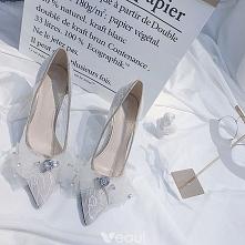 Piękne Białe Buty Ślubne 20...