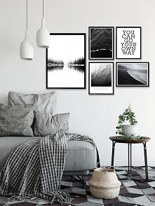 Czarno biały zestaw plakatów