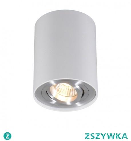 Fantastyczna nowoczesna lampa sufitowa Rondoo 45519 firmy Zuma Line. Biała lampa oświetleniowa o max mocy 50 W z jednym źródłem GU10.