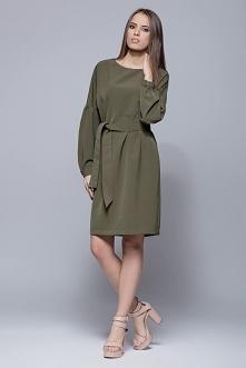 Elegancka sukienka z bufiastymi rękawami