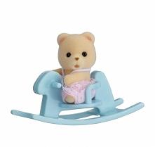 Sylvanian Families Przenośny zestaw dla dziecka (miś na koniku bujanym) 5199
