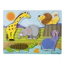 Puzzle MELISSA & DOUG 14328 Touch and Feel Zwierzęta ZOO