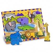 Puzzle drewniane MELISSA & DOUG Safari 13722