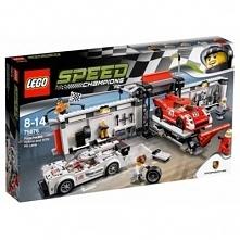 Klocki LEGO Speed CHampions Porsche 919 Hybrid i 917K Pit Stop 75876