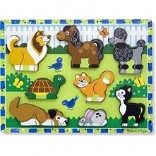 Puzzle drewniane MELISSA & DOUG Zwierzęta 13724