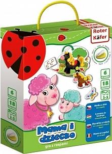 Gra edukacyjna z rzepami Mama i dziecko