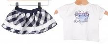 Primigi T-Shirt Dziewczęcy + Spódnica 62 Biały