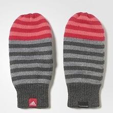 Adidas Rękawiczki dziecięce Stripy Mittens szare r. S (CD3044)
