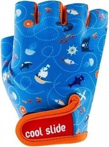 CoolSide Rękawiczki rowerowe dziecięce Pirate Gloves niebieskie r. XS