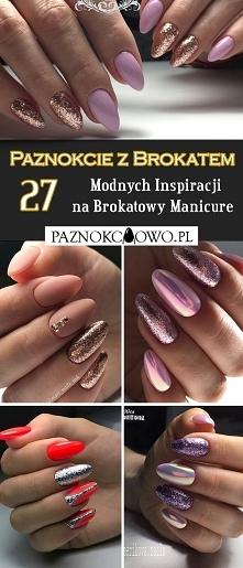 Paznokcie z Brokatem: TOP 27 Fascynujących Inspiracji na Paznokcie Zdobione B...