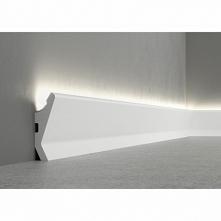 Nowoczesna-gładka listwa podłogowa z funkcją zamontowania taśmy LED QL014 Pap...