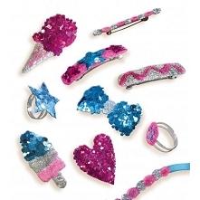 Piątek, piąteczek, piątunio:) Uwielbiamy:)  Świetna kreatywna zabawa, zestaw pozwala na wykonanie pierścionków, spinek czy też bransoletek.  Kreatywna biżuteria z brokatem dla d...