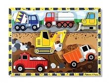 Puzzle drewniane Pojazdy budowlane (13726)