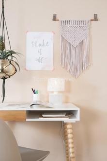Lampa stołowa GRID biała (5...