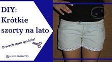 Jak przerobić nudne, długie spodnie na letnie szorty? Jak zrobić oryginalne obszycia na nogawkach? Instrukcje krok po kroku znajdziecie po KLIKnięciu w zdjęcie oraz na adzik-two...
