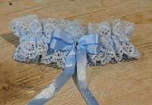 Podwiązka ślub niebieska