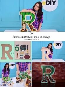 DIY Świecąca literka w stylu Minecraft Cały tutorial na moim blogu.