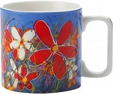 Maxwell & Williams Kubek Art Love Life Czerwony Kwiat 350 Ml