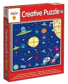 Puzzle drewniane - W kosmosie (304-49981)