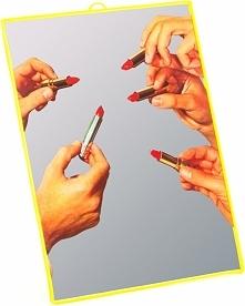 Lustro Seletti Wears Toiletpaper średnie Lipstick