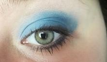 Blue eyeshadow. Mój makijaż