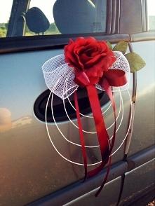 Ślubne ozdoby na samochód. zapraszam na FB unique ślub
