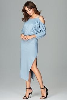 Elegancka sukienka z asymetrycznym cięciem