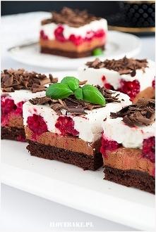 Ciasto czekoladowe z malina...