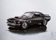 Ford Mustang 1969, ołówki -...