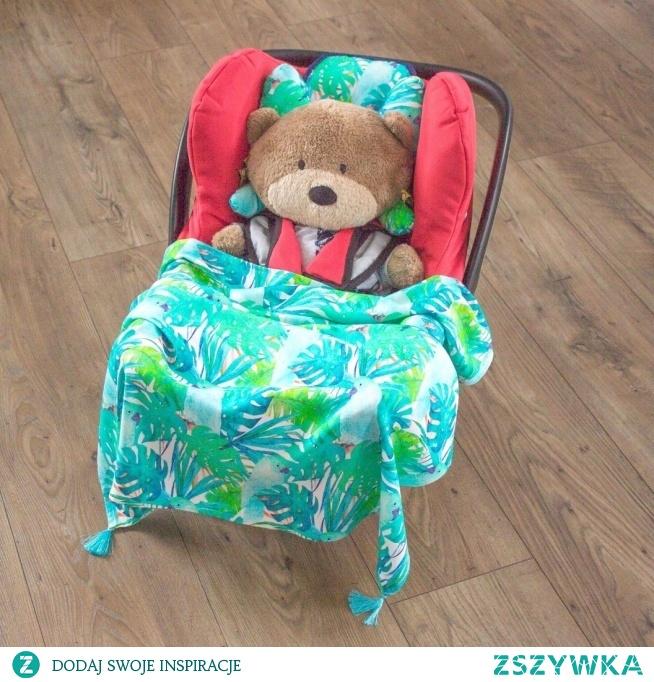 Bambusowy otulacz, poduszka motylek i wkładka do fotelika. fb MisioZdzisioSklep