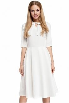 Sukienka rozkloszowana z wiązaniem moe298