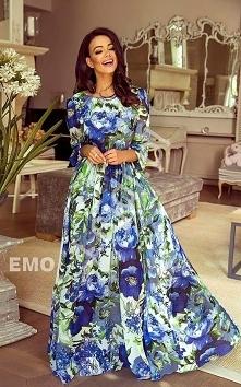 Szyfonowa zwiewna suknia w ...