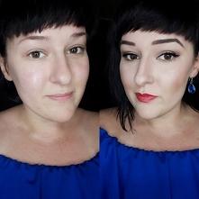 przed i po   #makijaz #klas...