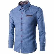 Klasyczna jeansowa koszula ...