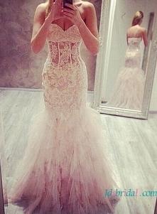 Przedmiot: H1610 seksowna suknia ślubna z falbankami  Cena >>> 438 U...