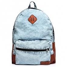Marmurkowy jeansowy plecak marki Black Sheep. Fason damski oraz męski. Stylowo odszyty, sprawdzi się jako plecak szkolny lub vintage.