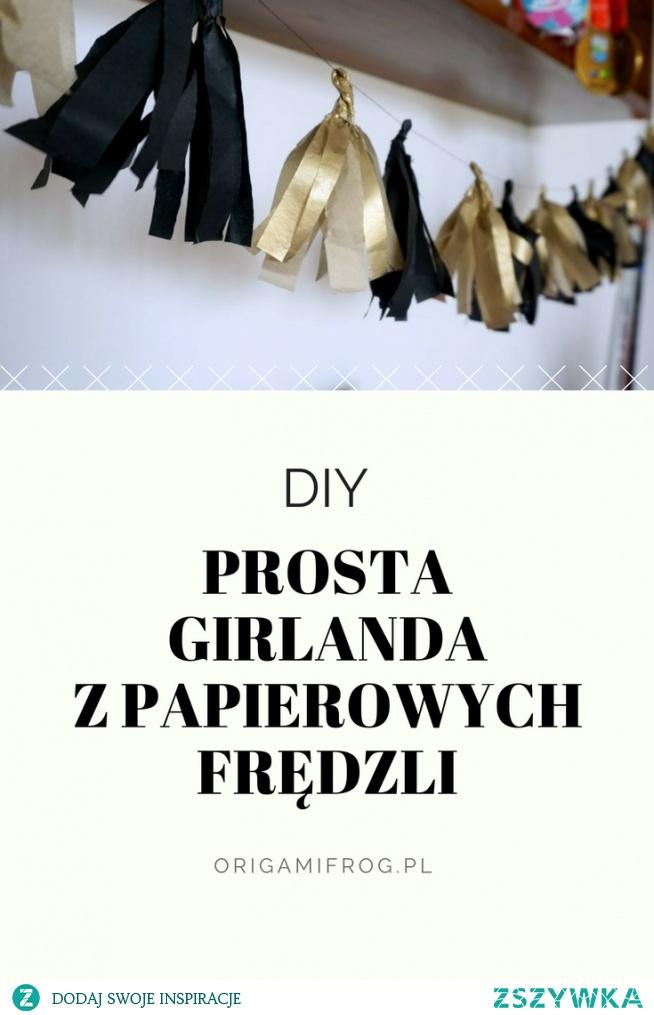 Zrób to sam - girlanda z papierowych frędzli DIY Girlanda z papierowych frędzli na imprezę Wielkiego Gatbbiego / impreza lata 20• origamifrog.pl