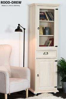 Witryna drewniana sosnowa do salonu, biura czy przedpokoju
