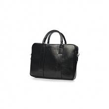 Skórzana czarna męska torba na laptopa Solier Edynburg