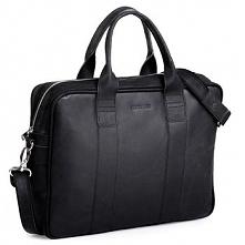 Czarna męska torba na ramię brodrene bl01, Kolor wnętrza: Czarny