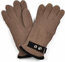 Art of Polo Rękawiczki męskie z kapslem brązowe (rk1301)