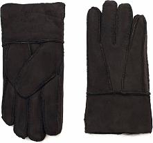 Art of Polo Męskie rękawiczki skórzane Kożuchowe ciemnobrązowe (rk16571)
