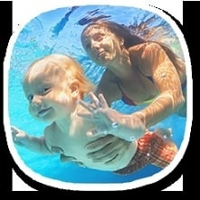 Nauka pływania dla niemowlą...