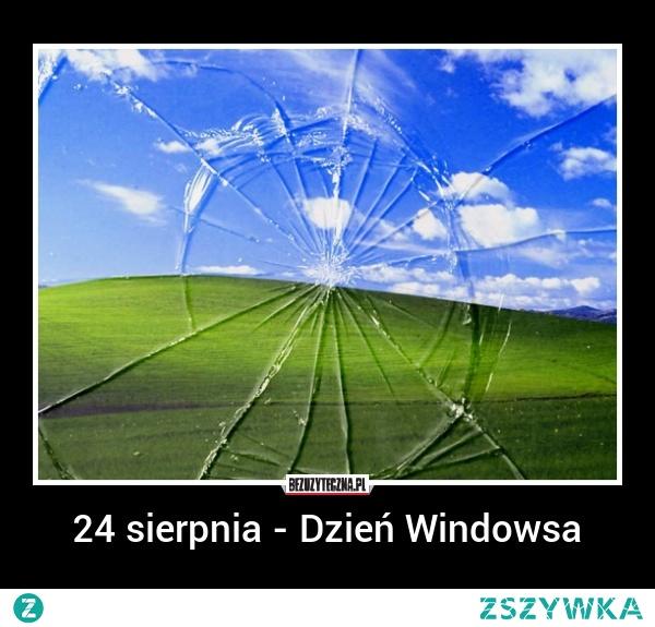 24 sierpnia - Dzień Windowsa.