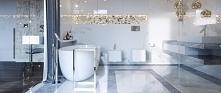 Łazienka inspirowana marmurem. Projekt i wykonanie: JUSTYNA TATYS LUXURY INTE...