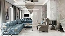 Wnętrze zaprojektowane w stylu New York Glamour. Projekt i wykonanie: JUSTYNA...