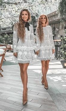 Piękne bliźniaczki w koronk...