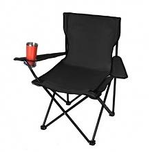 Krzesło wędkarskie turystyczne składane FOTEL czarne